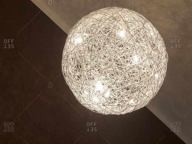 Illuminated spherical modern celling lamp