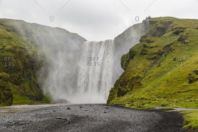 Beautiful landscape of Skogafoss waterfall in Iceland