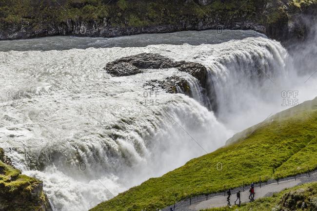 Beautiful landscape of Gullfoss waterfall in Iceland