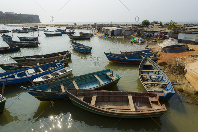 Fishing boats in Angola in Africa