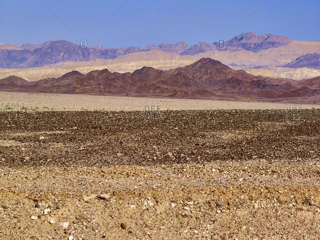 Rocky slopes of Wadi Araba, rocky slopes at Aqaba, Aqaba Province, Jordan, Middle East,