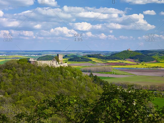 Gleichen Castle and Wachsenburg Castle near Muhlberg, Drei Gleichen, Thuringia, Germany,