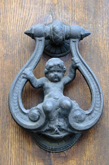 Doorknob Florence, Florence, Tuscany, Italy,