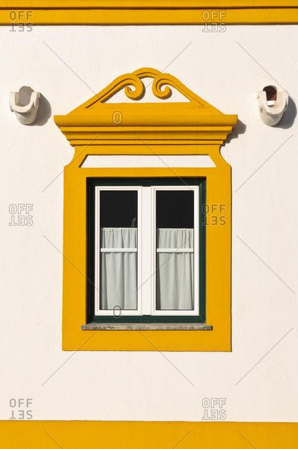 Traditional facade, Vila Nova de Milfontes, Alentejo, Portugal, Europe