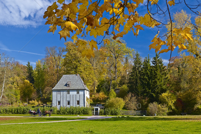 Goethe's garden house in the Park an der Ilm, Weimar, Thuringia, Germany