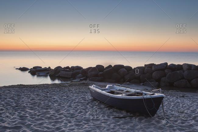 Thiessow Beach, Monchgut Peninsula, Ruegen Island, Mecklenburg-West Pomerania, Germany