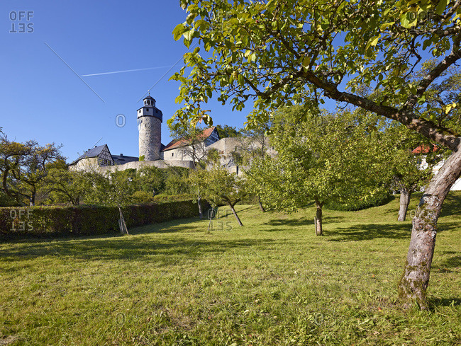 September 28, 2013: Zwernitz Castle in Sanspareil, district of Wonsees, Upper Franconia, Bavaria, Germany