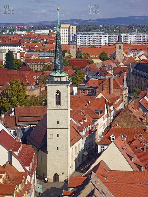 September 27, 2013: Church of All Saints in Erfurt, Thuringia, Germany