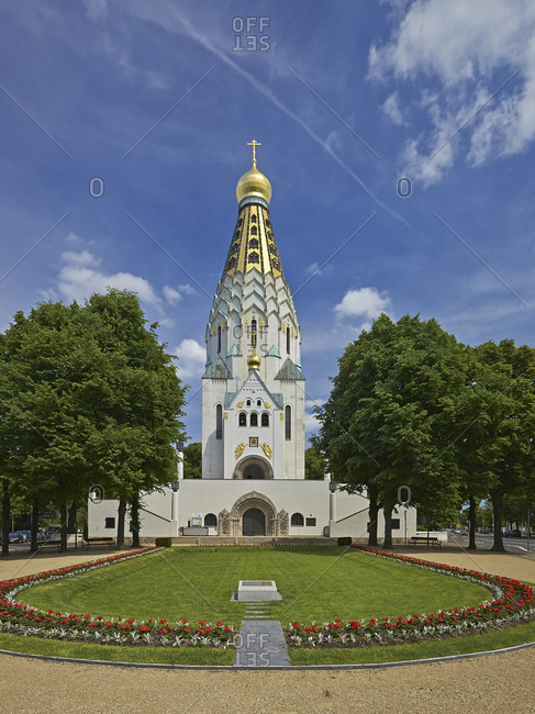 May 25, 2014: Russian church in Leipzig, Saxony, Germany, Europe