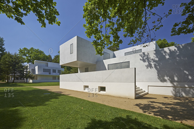 May 22, 2014: Moholy-Nagy and Gropius House, Masters' Houses in Dessau-Rosslau, Saxony-Anhalt, Germany, Europe