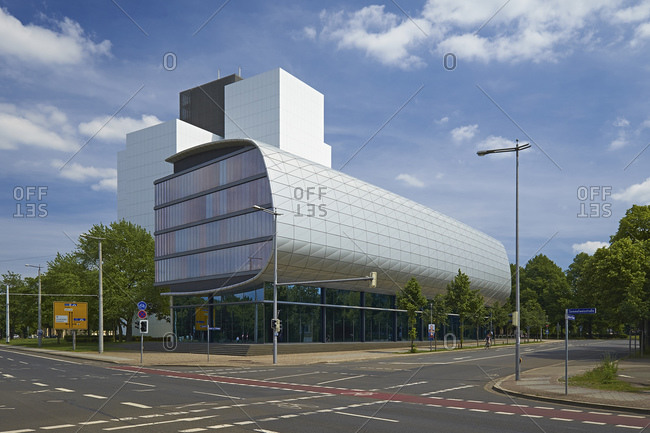 May 25, 2014: Extension of the National Library in Leipzig, Saxony, Germany, Europe