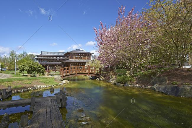 Japanese garden in Bad Langensalza, Thuringia, Germany, Europe