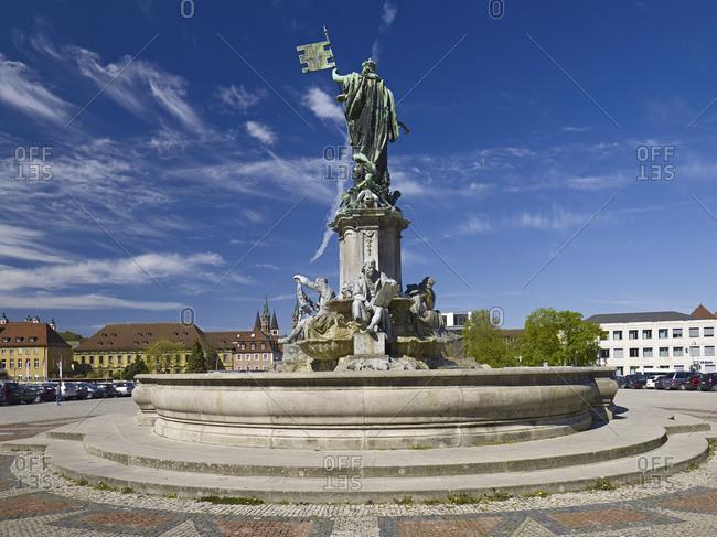 April 17, 2014: Frankonia Brunnen, Wuerzburg, Lower Franconia, Bavaria, Germany, Europe