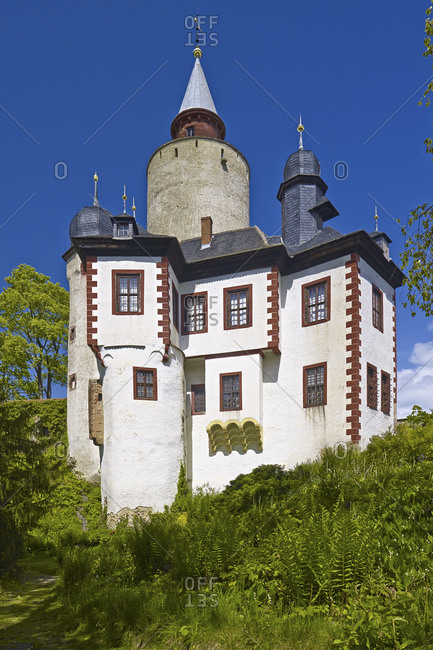 Posterstein Castle in the Upper Sprottental, Altenburger Land District, Thuringia, Germany, Europe