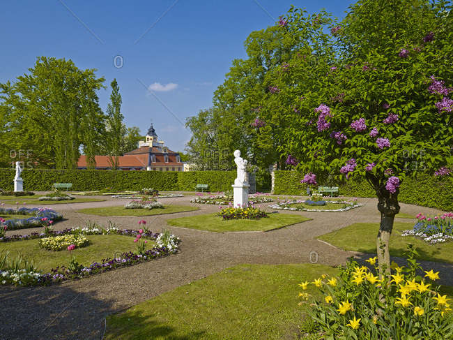 April 30, 2014: Russian garden in Belvedere near Weimar, Thuringia, Germany, Europe