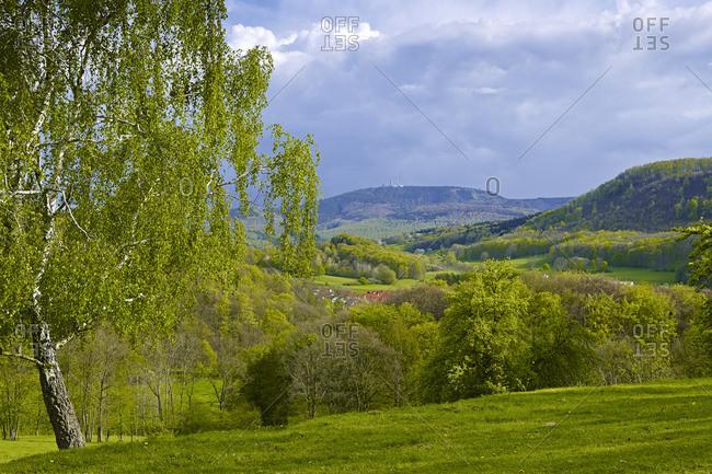 Inselsberg seen from Seebach, Wartburgkreis, Thuringia, Germany, Europe