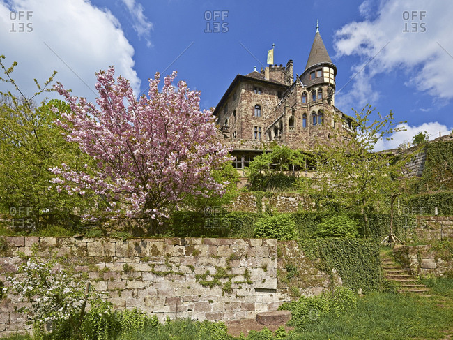 April 20, 2014: Berlepsch Castle near Witzenhausen, Goettingen District, Hesse, Germany, Europe