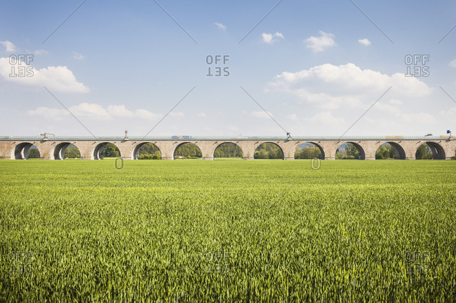 Motorway bridge A4, Goschwitz, Jena, Thuringia, Germany