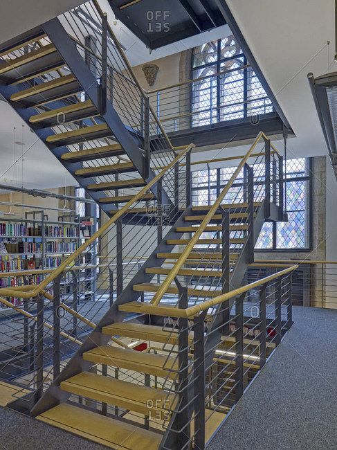 May 20, 2014: City library St.Jakobi in Muhlhausen, Thuringia, Germany, Europe
