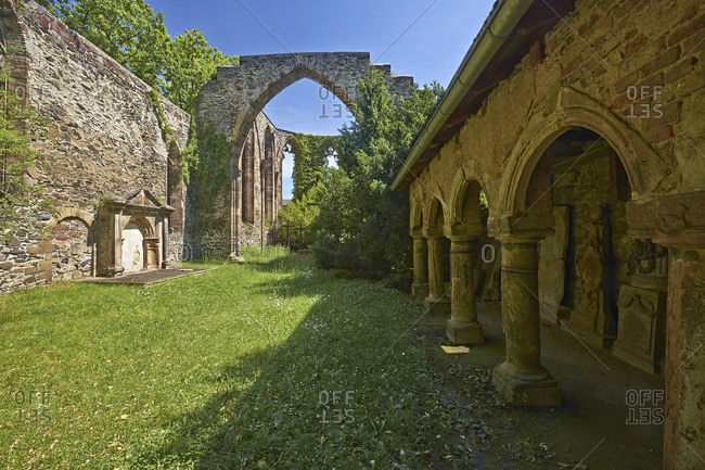 Ruin of the Widenkirche in Weida, Thuringia, Germany, Europe