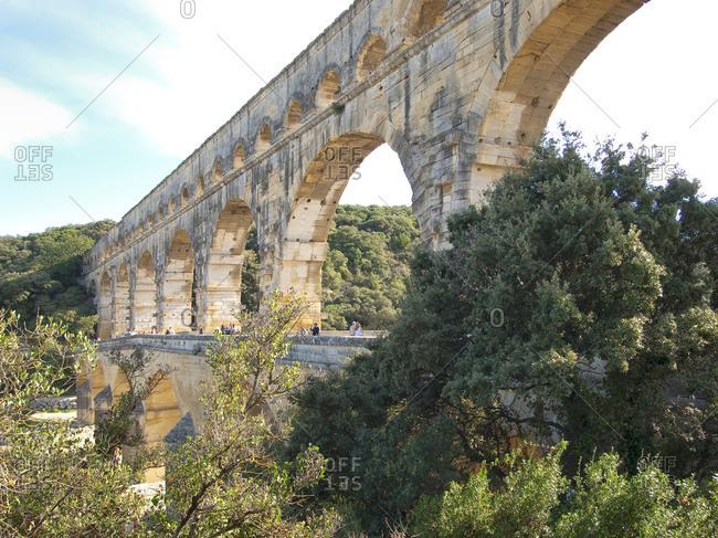 World Heritage Site Pont du Gard, South of France, France, Europe
