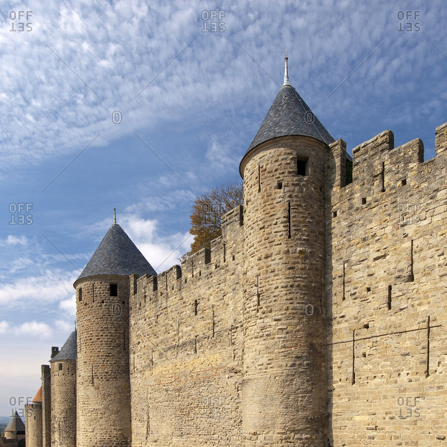 Cite of Carcassonne, World Heritage Site, South of France, France, Europe