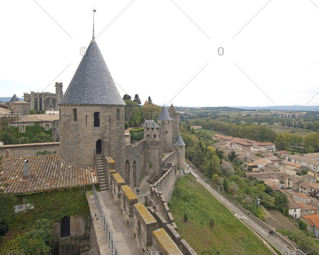 October 6, 2012: Cite of Carcassonne, World Heritage Site, South of France, France, Europe