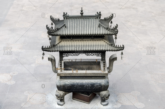 Oven in the courtyard, Jing'an Temple, Shanghai, China, Asia