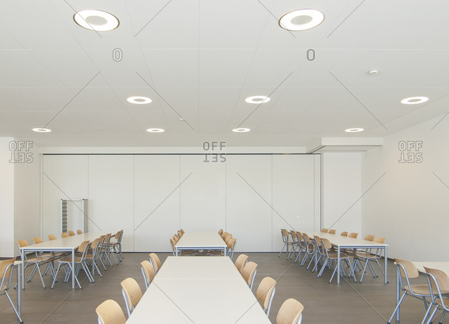Cafeteria, school, Vogelstang, Baden-Wurttemberg, Germany, Europe