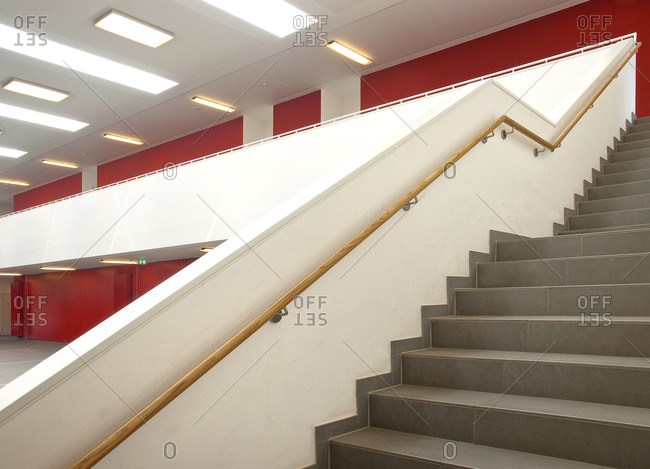 Assembly hall, school, Vogelstang, Baden-Wurttemberg, Germany, Europe