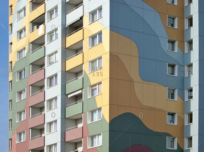 November 14, 2011: Residential complex Insinger Strasse, Nuremberg, Middle Franconia, Bavaria, Germany, Europe