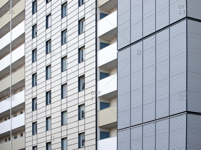 Residential complex Bernreuther Strasse, Nuremberg, Middle Franconia, Bavaria, Germany, Europe