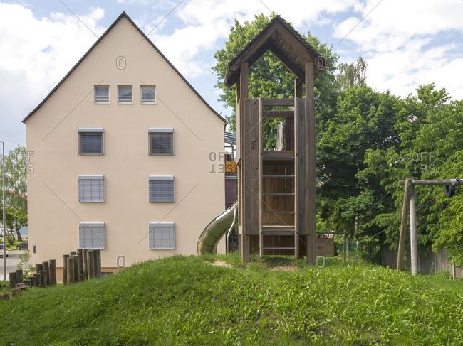 Social housing, Schwabach, Middle Franconia, Bavaria, Germany, Europe