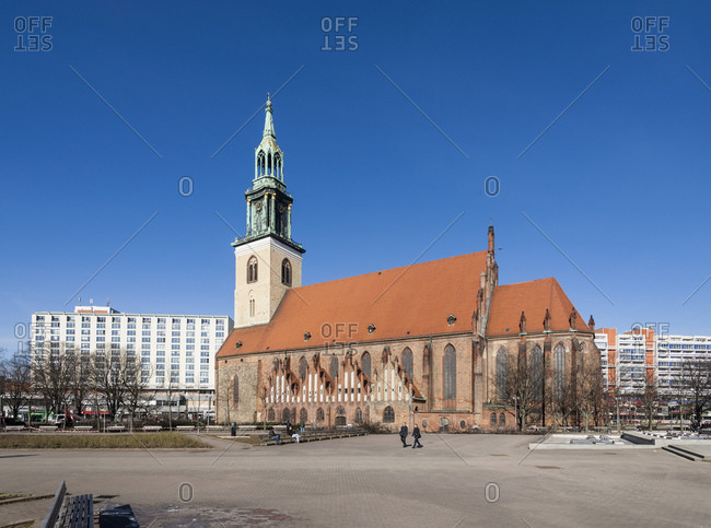 February 24, 2014: Marienkirche, Mitte, Berlin, Germany, Europe