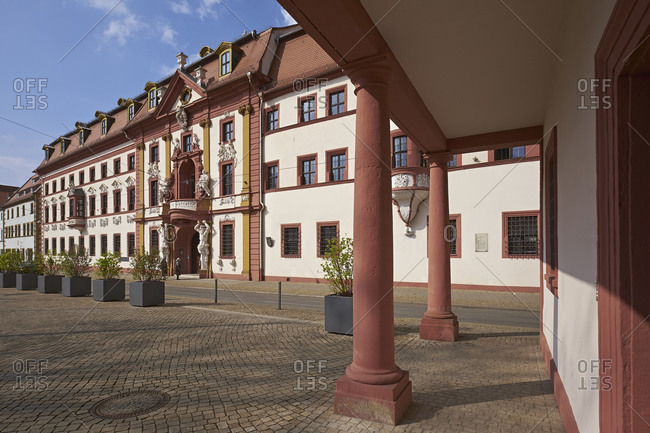 March 25, 2014: Kurmainzische Statthalterei, today state chancellery in Erfurt, Thuringia, Germany, Europe