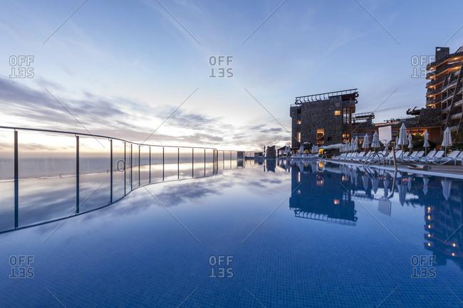 March 12, 2014: Pool, Hotel Gloria Palace Amadores, Gran Canaria, Spain