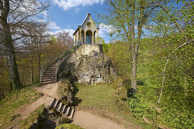 Knights' chapel in the Altenstein castle park near Bad Liebenstein, Wartburgkreis, Thuringia, Germany, Europe