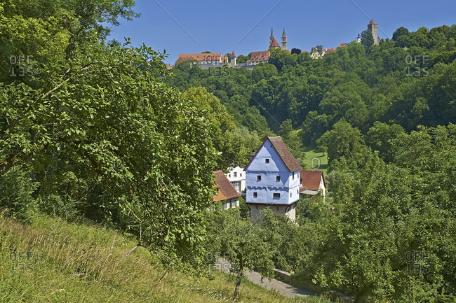 Topplerschlosschen in Rothenburg ob der Tauber, Middle Franconia, Bavaria, Germany