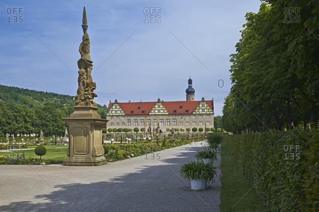 July 20, 2014: Weikersheim Castle, Main-Tauber-Kreis, Baden-Wurttemberg, Germany