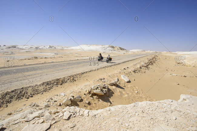 March 29, 2014: Cycling in the White Desert, Sahara, Egypt