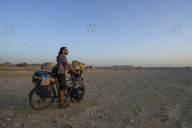 March 28, 2014: Cycling in the White Desert, Sahara, Egypt