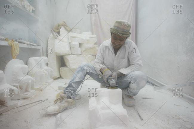 March 4, 2014: Artists in Jaipur, Sculptor's Quarter, India