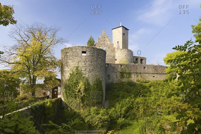 October 4, 2014: The Trimburg near Trimberg, Elfershausen, Lower Franconia, Bavaria, Germany