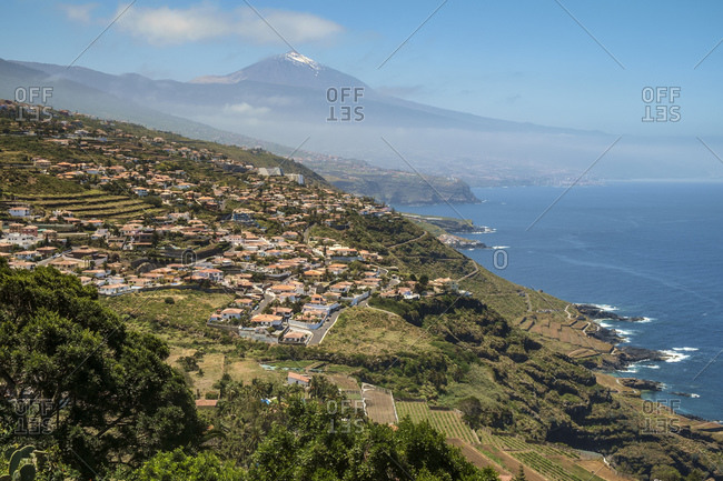 El Sauzal with Teide in the background, Tenerife, Canary Islands