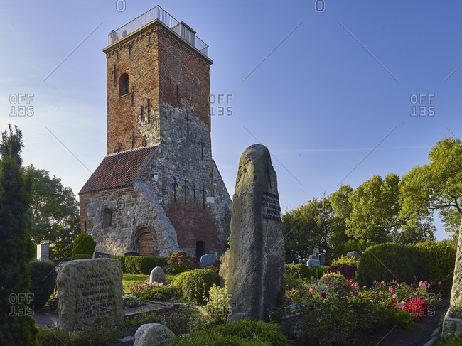 September 27, 2014: Ox tower in the cemetery of Imsum, Cuxhaven district, Lower Saxony, Germany