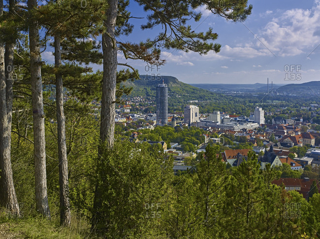 View from the landgrave to Jena, Thuringia, Germany