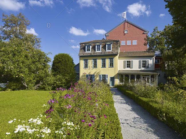 September 17, 2014: Schillerhaus in Jena, Thuringia, Germany