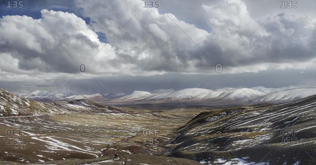 High mountain passes of the Tibetan Plateau, Qinghai Province, China