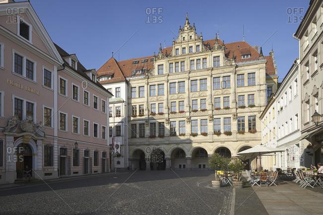 September 7, 2014: New town hall at the Untermarkt of Goerlitz, Saxony, Germany