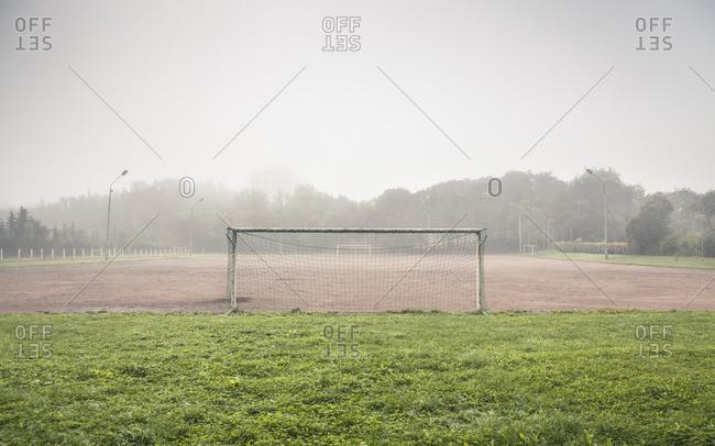 Soccer field, Jena, Thuringia, Germany